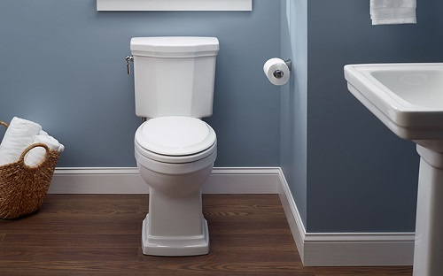 front view of Promenade II toilet installed