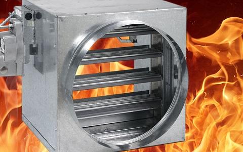 fire damper with menacing flames