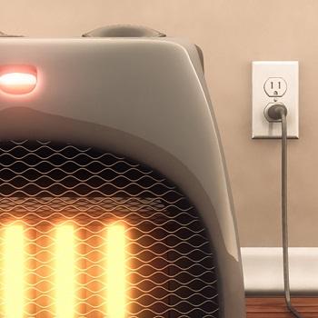space heater creating radiant heat