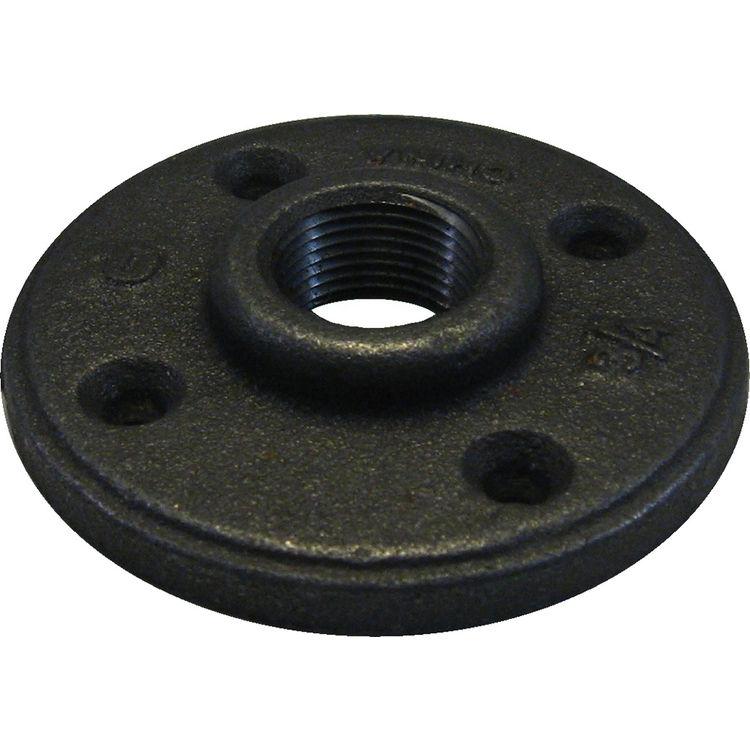 3 4 black iron floor flange plumbersstock On floor flange