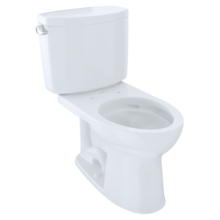 Toto CSTCEFG Cotton White Drake II TwoPiece Elongated Bowl - Elongated bowl toilet dimensions