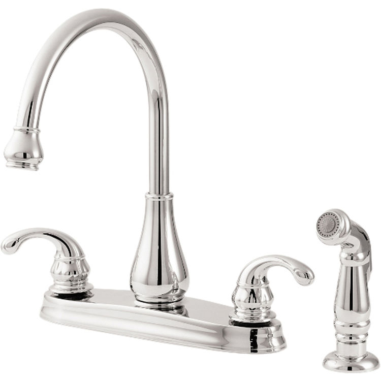 Pfister GT36-4DCC Treviso Two Handle Kitchen Faucet With Spray