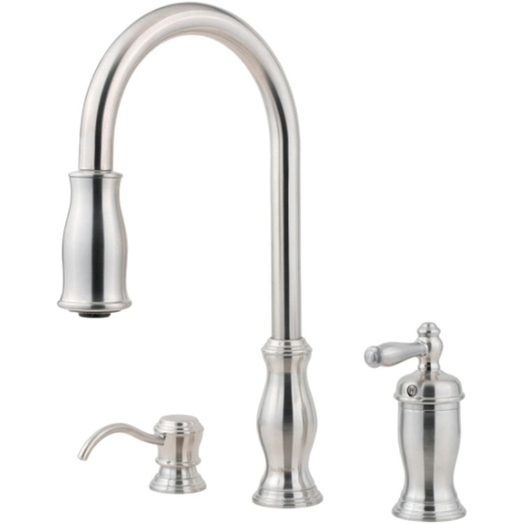 Pfister Gt526 Tms Hanover One Handle Pulldown Kitchen Faucet