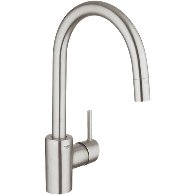 grohe 32665 dc0 single handle stainless pull down kitchen grohe kitchen faucet bronze grohe kitchen faucet