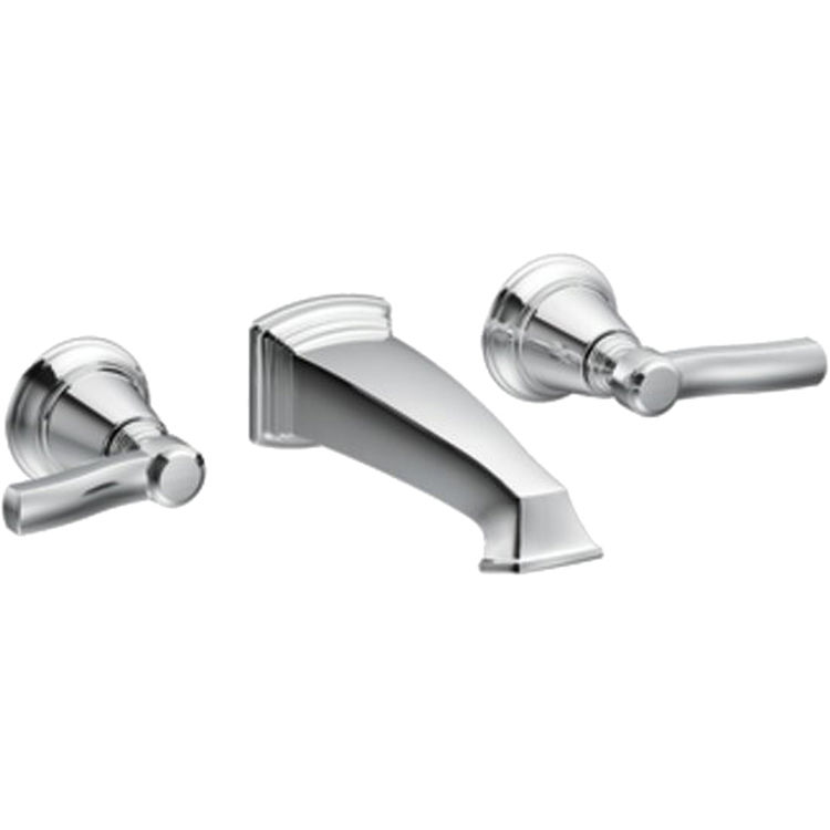 Moen Ts6204 Two Handle Wall Mount Bathroom Faucet Plumbersstock