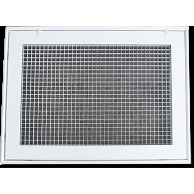 Lattice Hvac Grille : Soft white lattice filter grille with steel frame