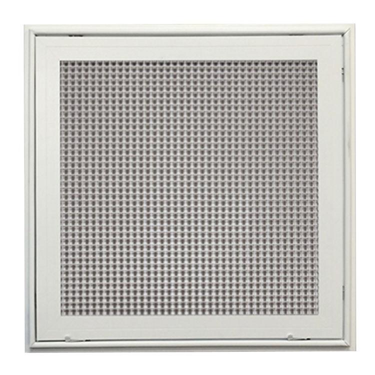 Lattice Hvac Grille : Inch soft white lattice filter grille t bar aluminum