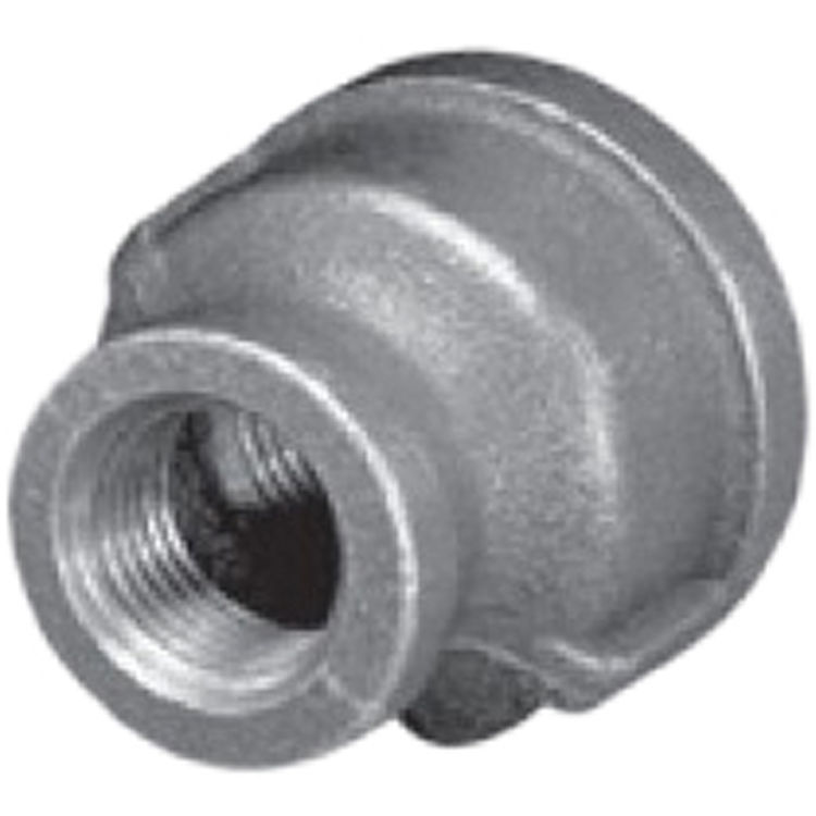 Quot black malleable iron bell reducer female