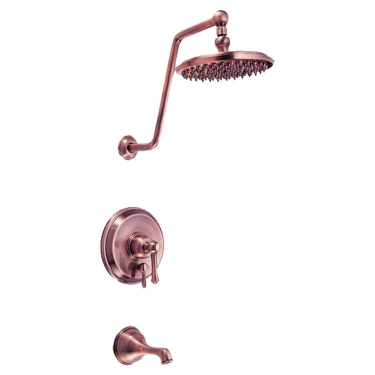 Danze d502057act antique copper opulence single lever for Waterworks copper tub