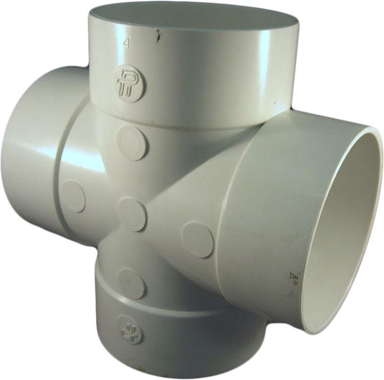 Inch pvc sewer drain tee cross fitting plumbersstock