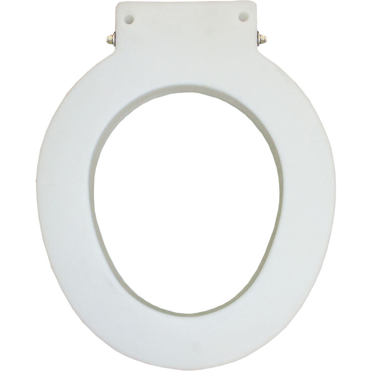 Bemis 4LR 000 Round Plastic Toilet Seat Closed Front Less Cover White Finish