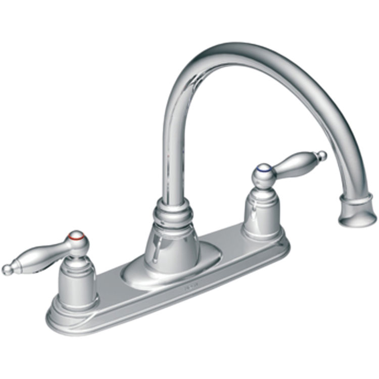 moen two handle kitchen faucet moen 7902 two handle high arc kitchen faucet plumbersstock 25258