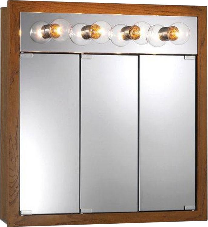 Jensen 755403 Honey Oak Granville Medicine Cabinet with 4 ...