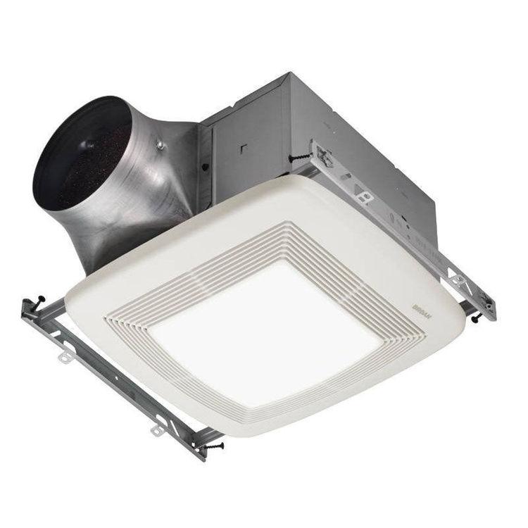 Broan nutone xb50l 50 cfm bathroom ventilation fan with light - Commercial exhaust fans for bathrooms ...
