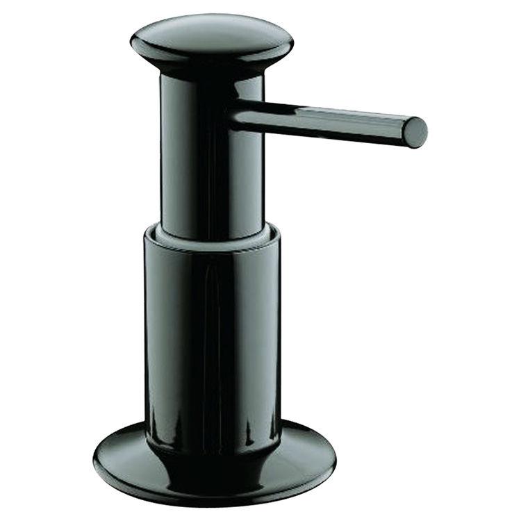 Kohler k 9619 7 soap lotion dispenser black plumbersstock - Kohler soap lotion dispenser ...
