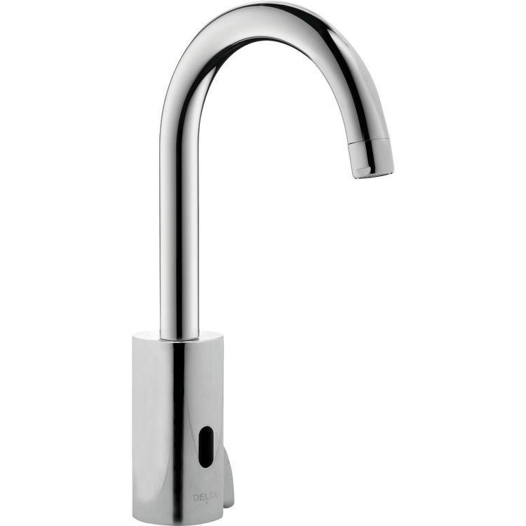 Delta Demd 211lf Ns Commercial Chrome Electronic Gooseneck Faucet