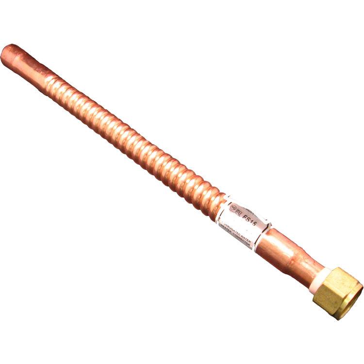 3 4 nut x 15 solder waterflex copper plumbersstock for Flexible copper tubing water heater
