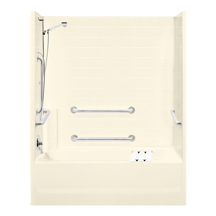 Aquatic Bath 2603ST3PL AL Almond 60 X30 X72 3 Piece Tub