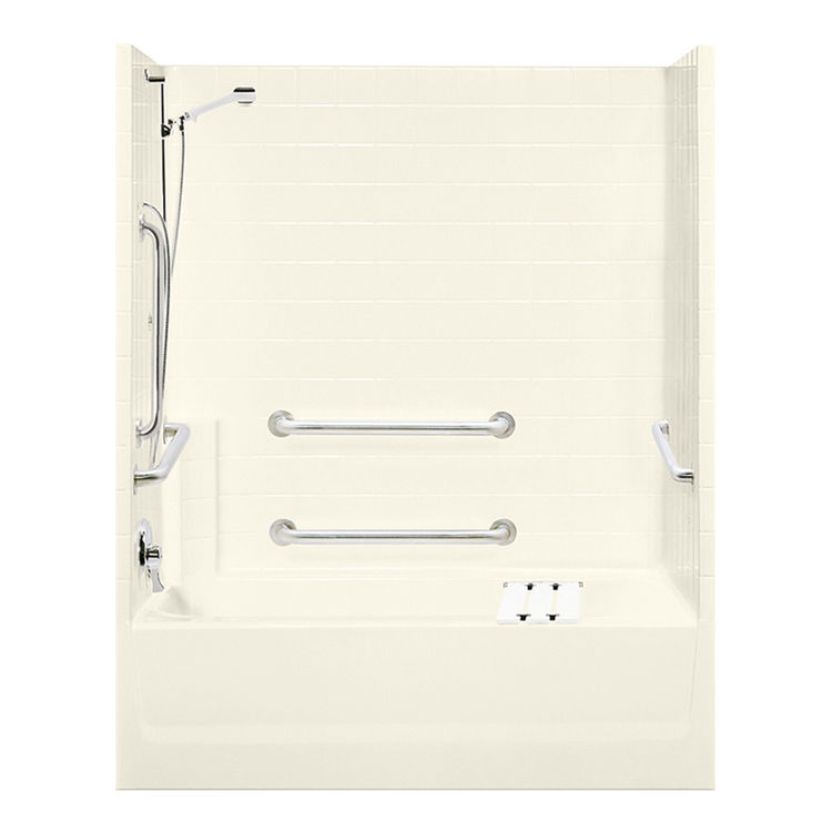 Aquatic Bath 2603ST3PL BI Biscuit 60 X30 X72 3 Piece Tub Amp