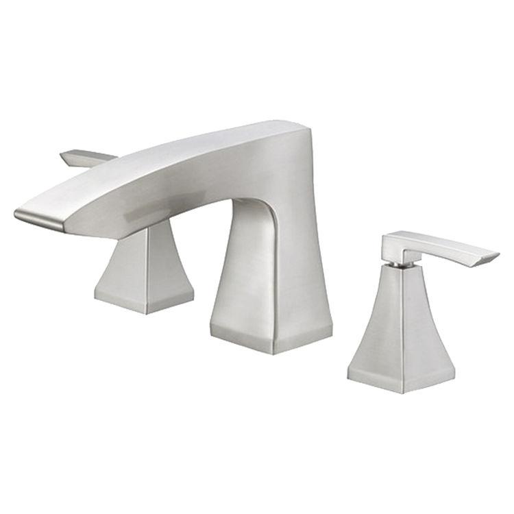 danze d300936bnt brushed nickel logan square roman tub