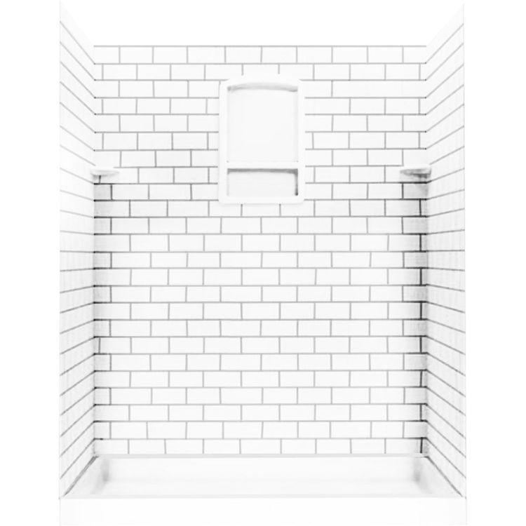 Swanstone Stmk96 3662 010 Subway Tile Kit 36 Quot X62 Quot X96 Quot White