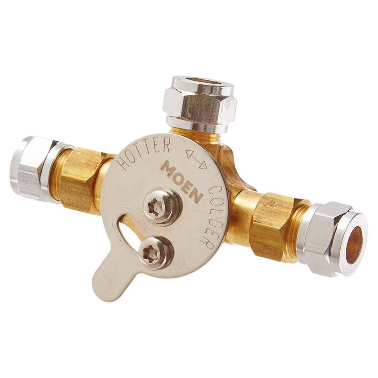 Moen Commercial 104424 Mixing Valve With Check Valves In