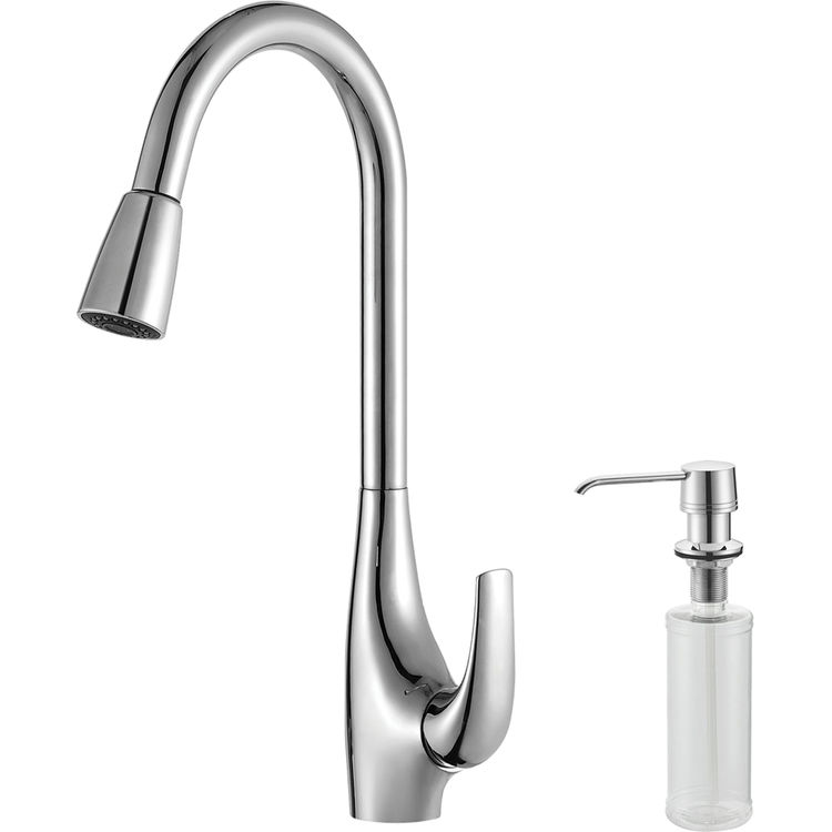 kraus khf203 33 kpf1621 ksd30ch kitchen sink and faucet combo