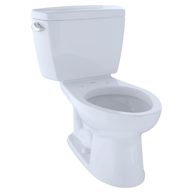 TOTO Eco Drake Two-Piece Elongated 1.28 GPF ADA Compliant Toilet ...