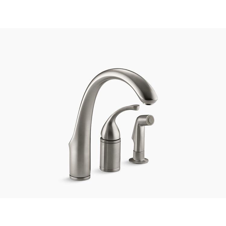 Kohler K-10430-VS Stainless Kitchen Faucet With Spray ...