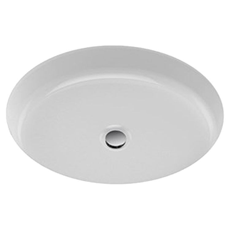 Toto Lt233 01 Cotton White Oval Undermount Lavatory Sink