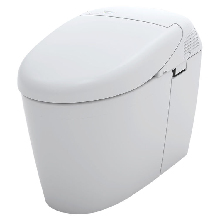 toto neorest 500h dual flush 10 or 08 gpf toilet with integrated bidet seat and ewater cotton white ms952cumg01 - Toto Bidet