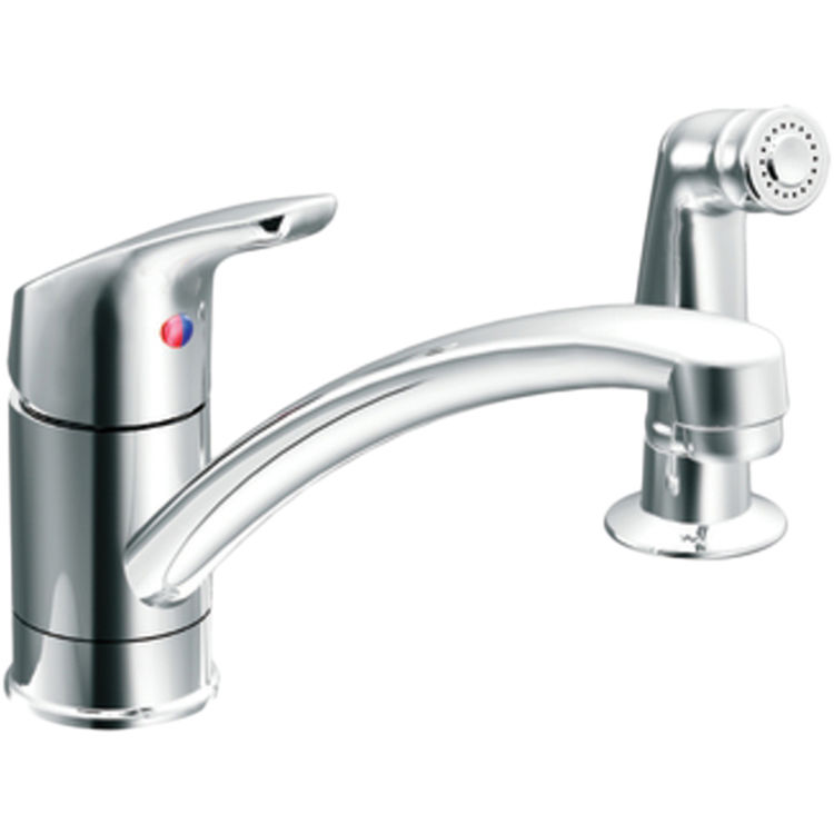 Moen CFG CA42514 Baystone Chrome 1-Handle Kitchen Faucet with Side Spray