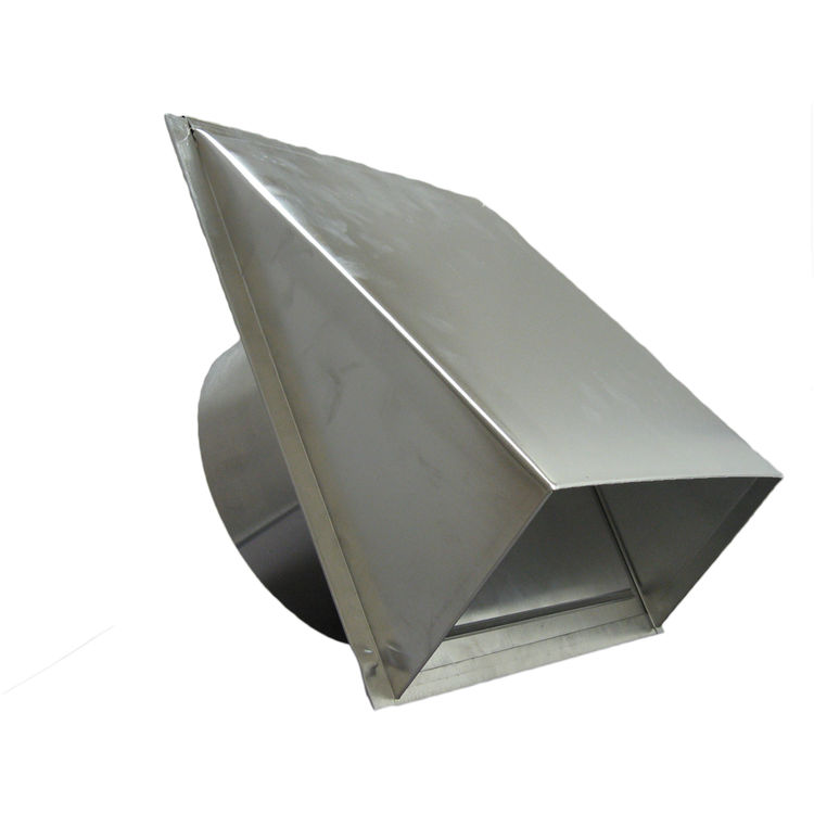 deflecto dahc6 6 aluminum dryer vent hood with flapper