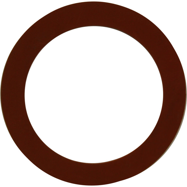 1/8 x 6 inch Red Rubber Gasket Ring | PlumbersStock