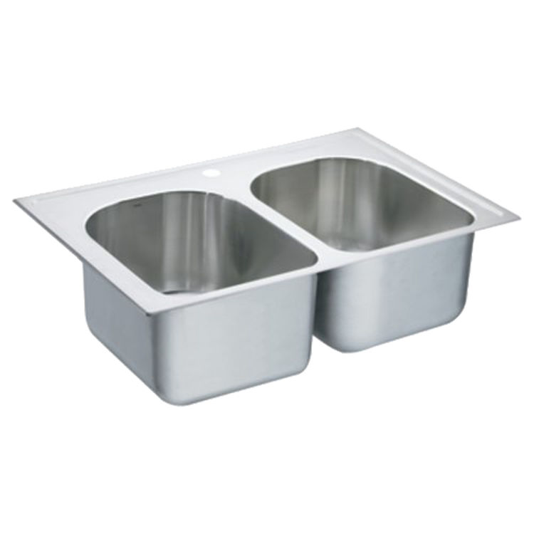 Moen S22393 Lancelot 33x22 Drop-in Stainless Steel Double