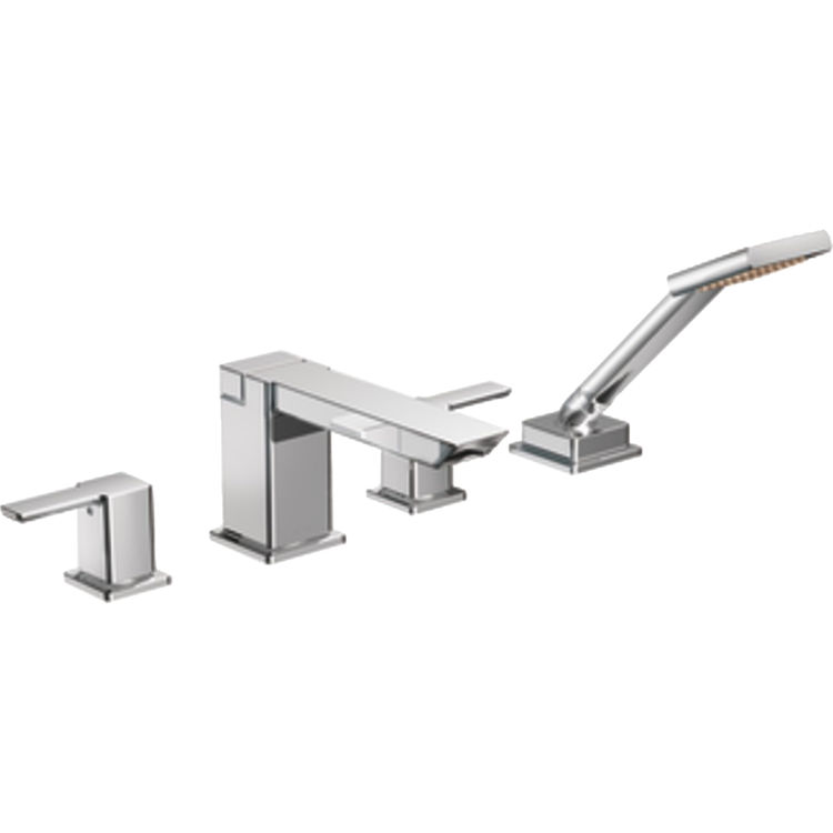 Moen TS904 Two Handle High Arc Roman Tub Faucet With Handheld Shower