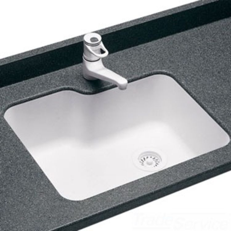 Swanstone us 2215 010 white undermount kitchen sink for Swanstone undermount sinks