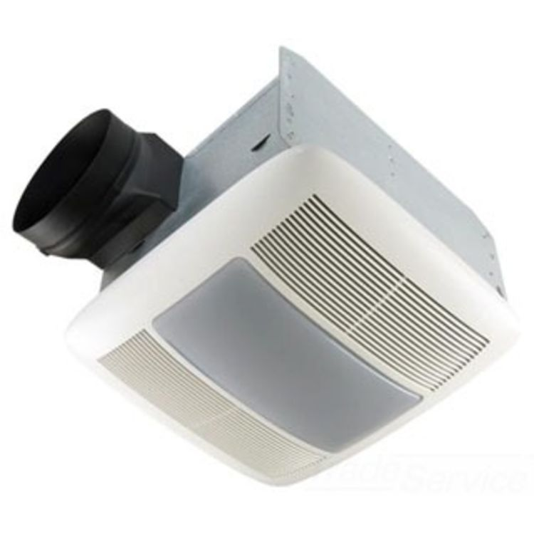 Broan nutone qtxen150flt 150 cfm ventilation fan light - Round bathroom exhaust fan with light ...