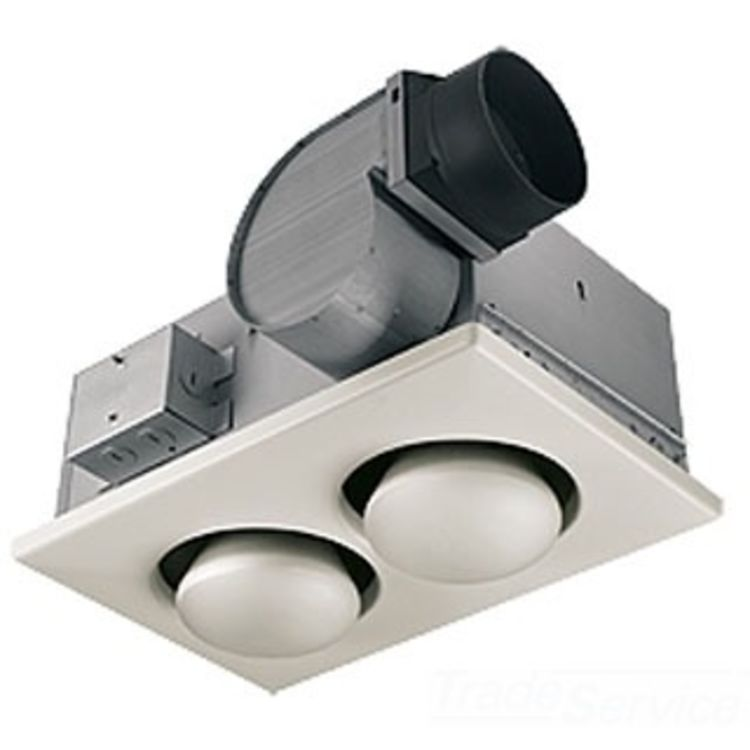 Nutone 70 Cfm Ceiling Exhaust Bath Fan W Night Light And: Broan-NuTone 9427P 70 CFM Two-Bulb Heater And Ventilation Fan