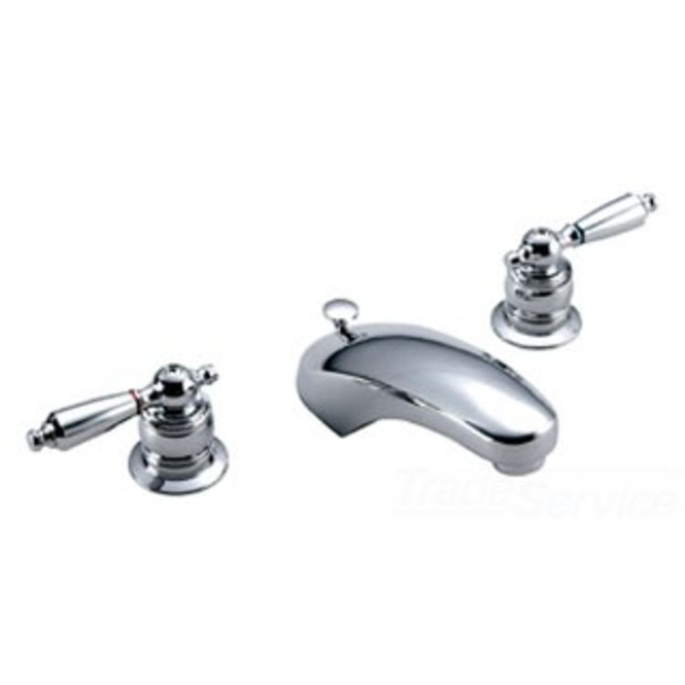 Symmons S 244 2 Lam Symmetrix Chrome Two Handle Widespread Lavatory Faucet