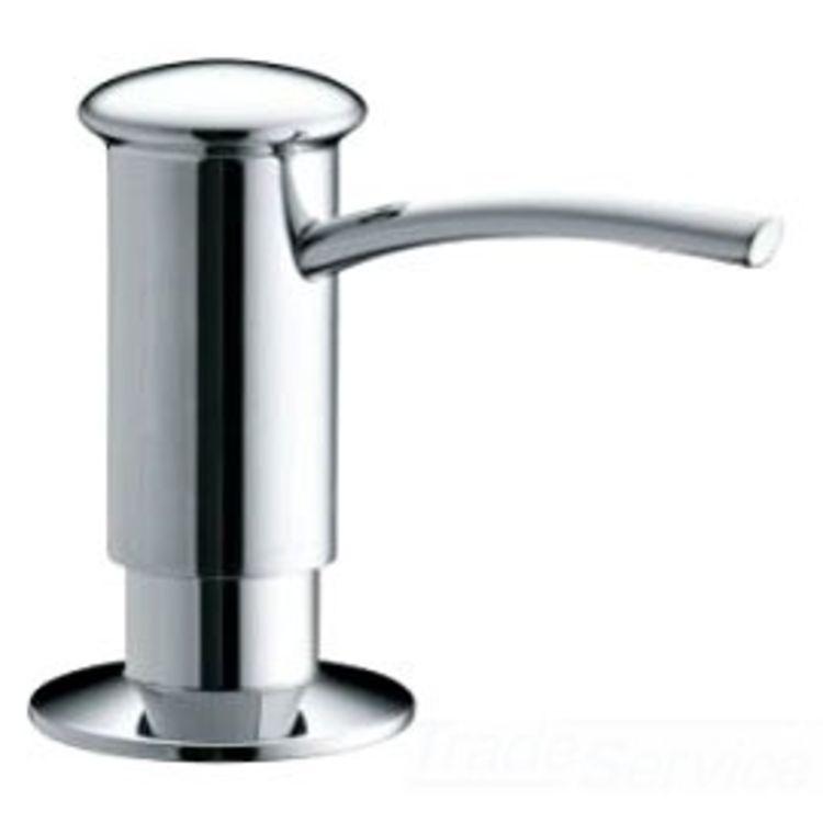 Kohler k 1895 c cp polished chrome contemporary soap and lotion dispenser plumbersstock - Kohler soap lotion dispenser ...